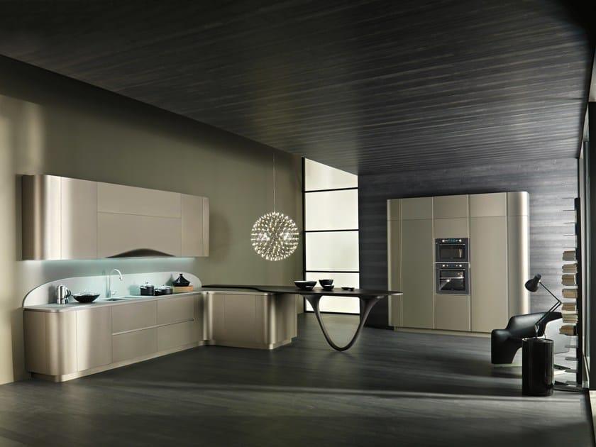 Cucina componibile in stile moderno con maniglie integrate - Cucina snaidero ola ...