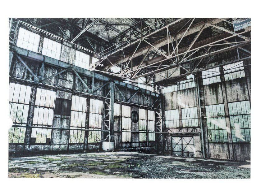 Photographic print / Print on glass OLD INDUSTRIAL HALL by KARE-DESIGN