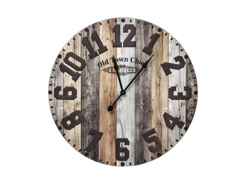 Wall-mounted MDF clock OLD TOWN - KARE-DESIGN