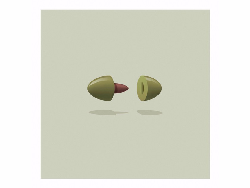 Print on paper OLIVE PLUG by Andre Brik
