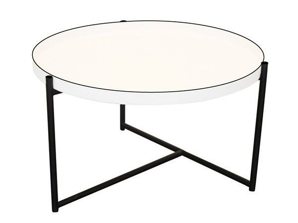 Round aluminium coffee table with tray OLIVER | Coffee table - Evie Group