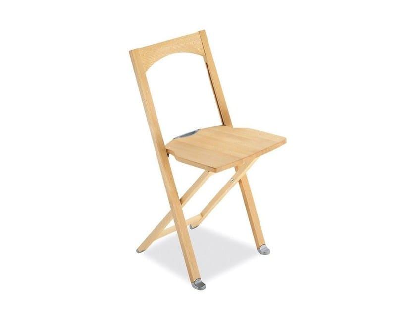 Folding beech chair OLIVIA   Folding chair - Calligaris