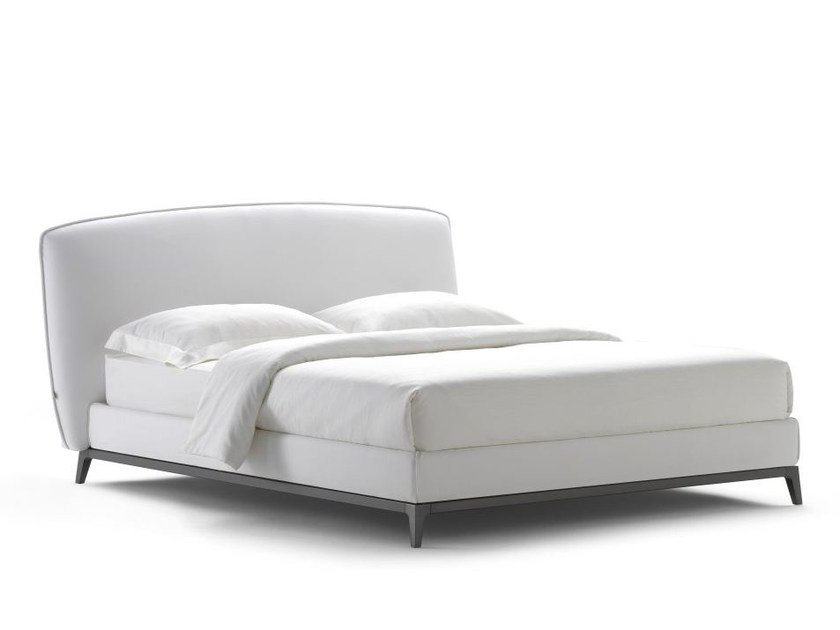 Fabric bed with upholstered headboard OLIVIER | Fabric bed - Flou