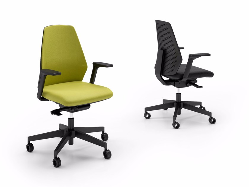 Task chair with casters OLOGRAM by Quadrifoglio