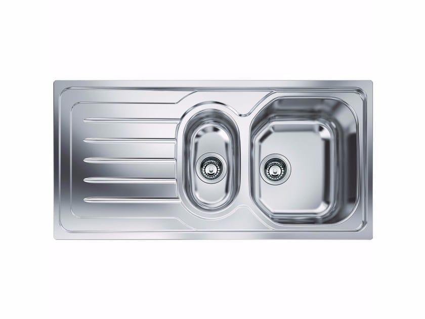 Lavello a una vasca e mezzo in acciaio inox con sgocciolatoio OLX 651 - FRANKE