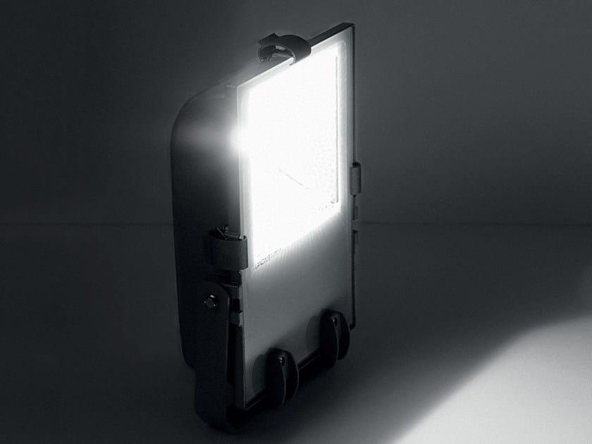 Adjustable die cast aluminium Outdoor floodlight OLYMPIA 3 by LANZINI