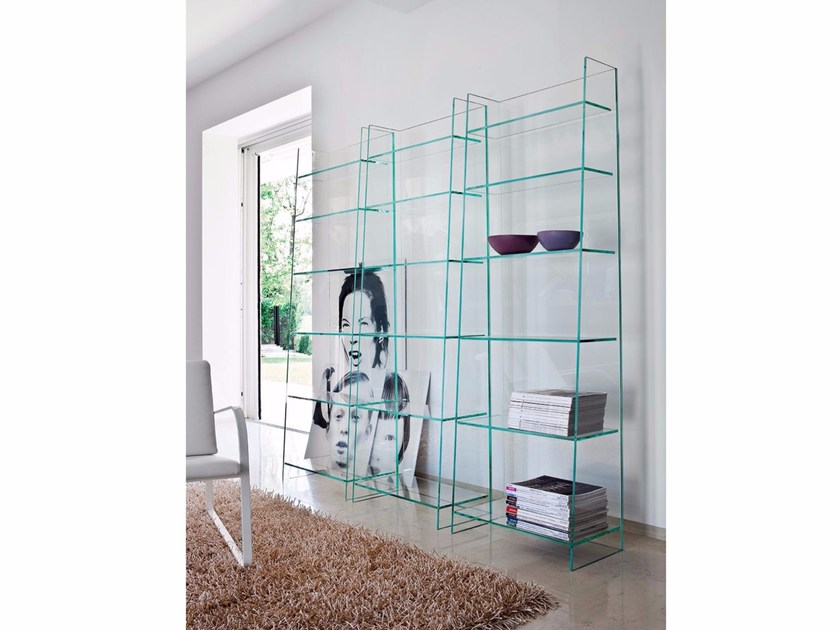 Freestanding glass bookcase OLYMPIA by Sovet italia