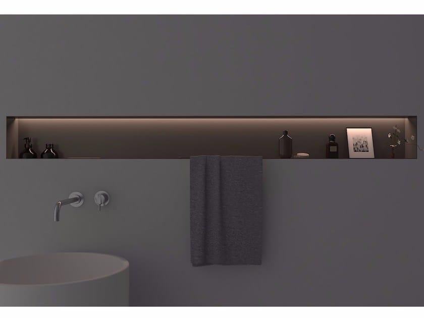 Aluminium bathroom wall shelf OMBRA by Antonio Lupi Design