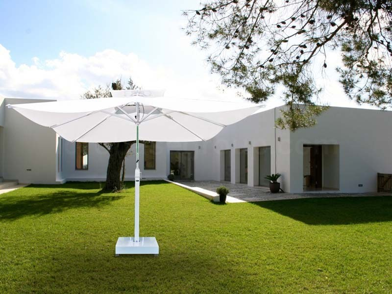 Adjustable square Garden umbrella OMBRA BIANCA - Enjoy your Life by Idrobase Group