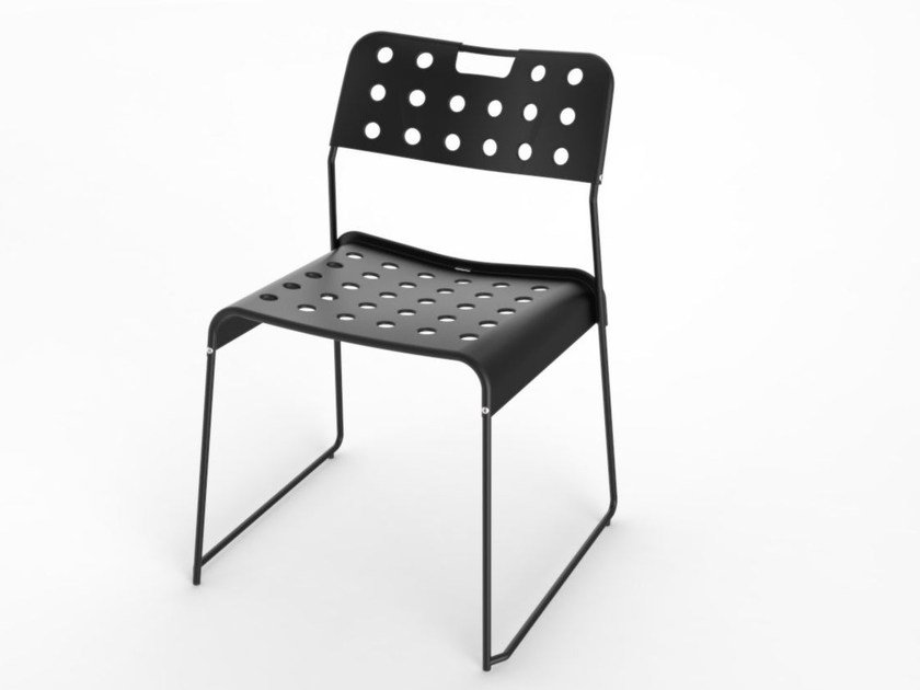 Sled base steel chair OMKSTAK by OMK 1965