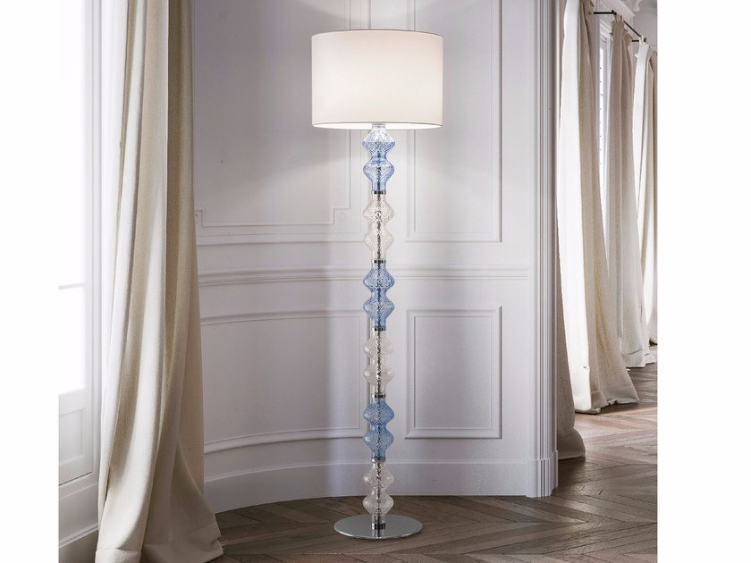 Blown glass floor lamp ONDA | Floor lamp - Zafferano