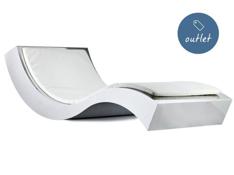 Upholstered stainless steel lounge chair ONDA S - Lamberti Decor