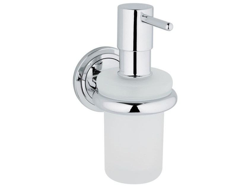 Wall-mounted satin glass liquid soap dispenser ONDUS ® | Liquid soap dispenser - Grohe