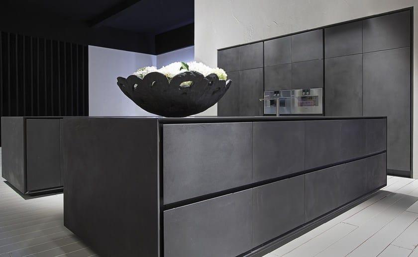 Cucina con doppia isola in cemento nero one cucina in - Cucine in cemento ...