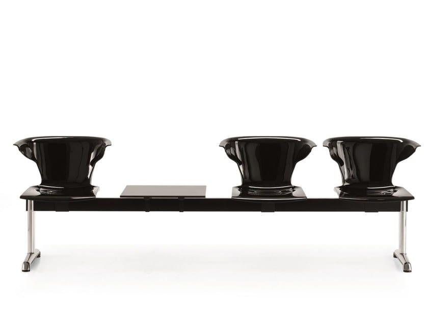 Freestanding polycarbonate beam seating ONE SB - Emmegi