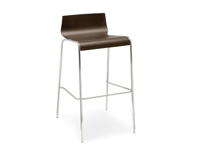 Stool with footrest ONLINE | Stool with footrest - Calligaris