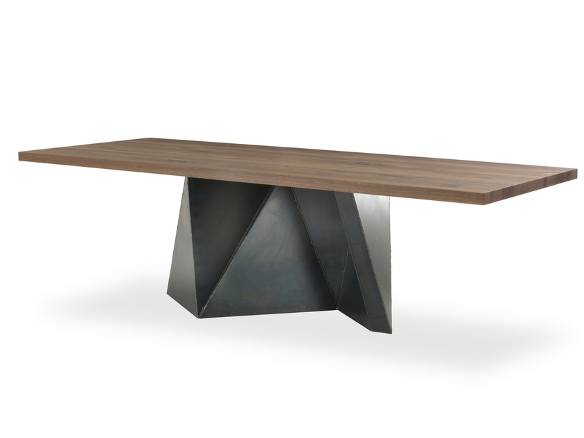 Rectangular solid wood table OOKI by Riva 1920