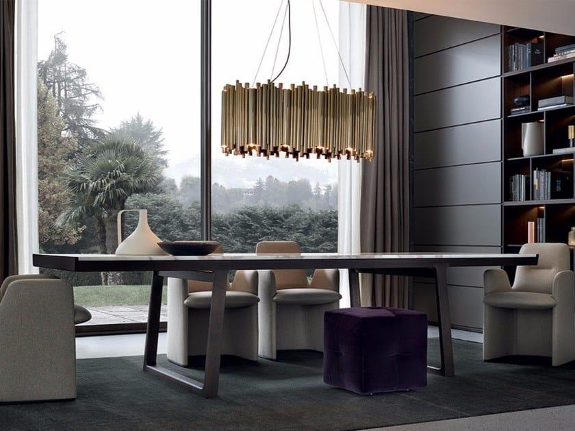 Tavolo allungabile da salotto rettangolare in marmo op ra for Tavolo salotto