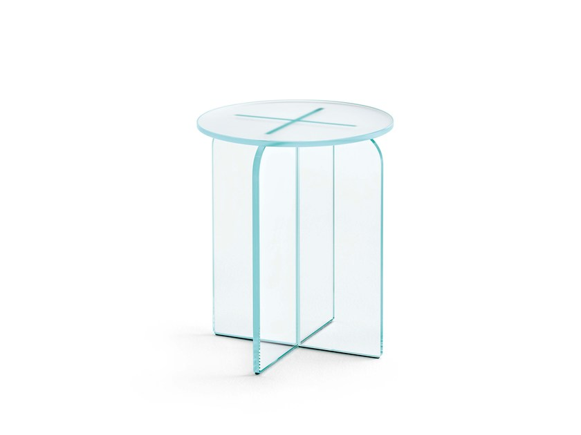 Glass stool / coffee table OPALINA | Stool - T.D. Tonelli Design
