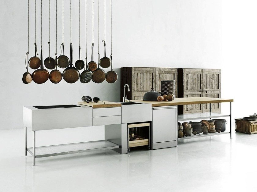 Stainless steel kitchen / outdoor kitchen OPEN by Boffi