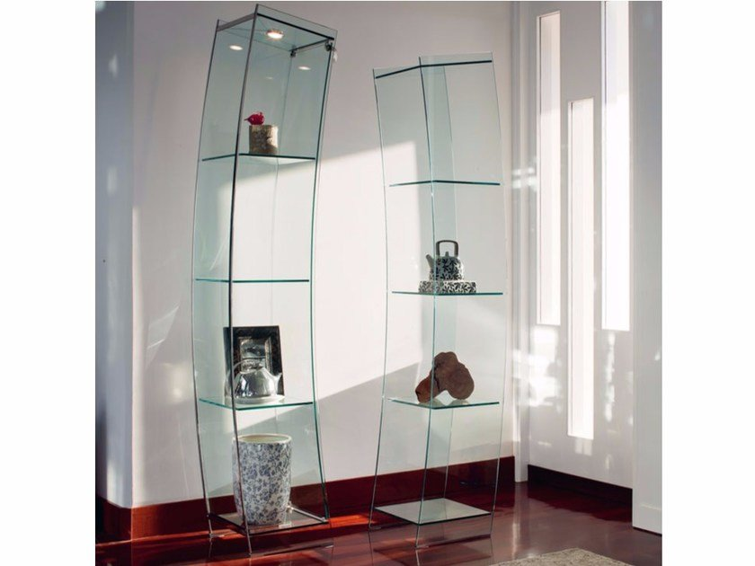 Crystal display cabinet OPEN WIND by Cattelan Italia