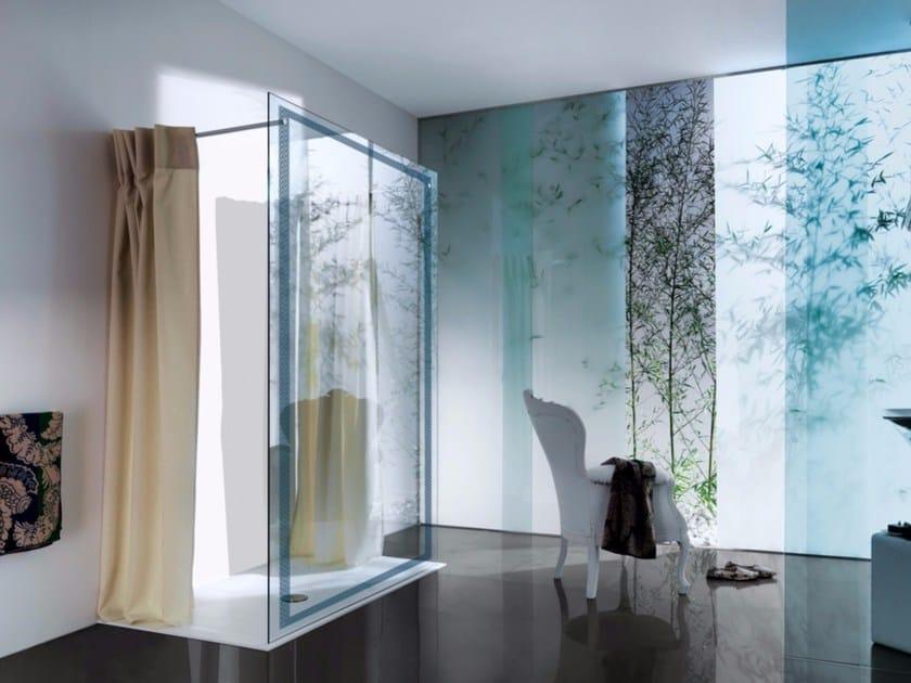 Rectangular shower cabin with tray OPEN XCLUSIVE - Samo