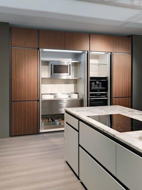 cucina in marmo con isola con maniglie integrate opera | cucina in ... - Cucine Esterne In Marmo