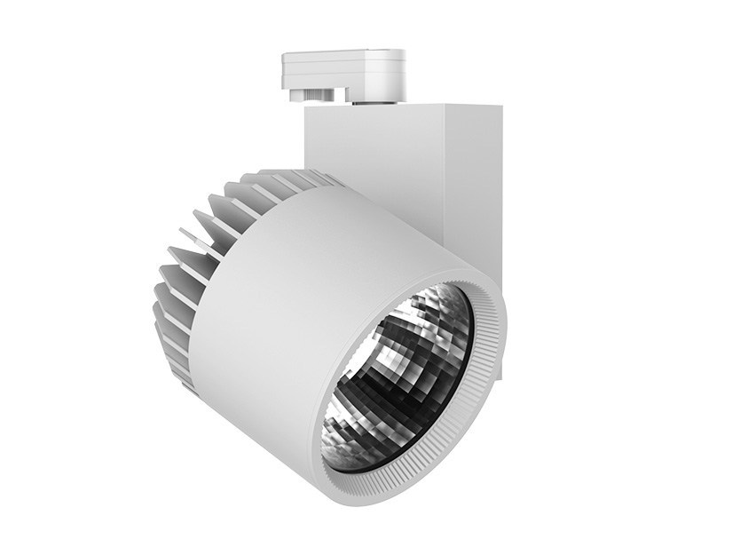 LED aluminium Track-Light OPTICAL SUPER BIG by LANZINI