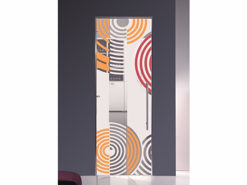 Hinged decorated glass door OPTIKA - Casali
