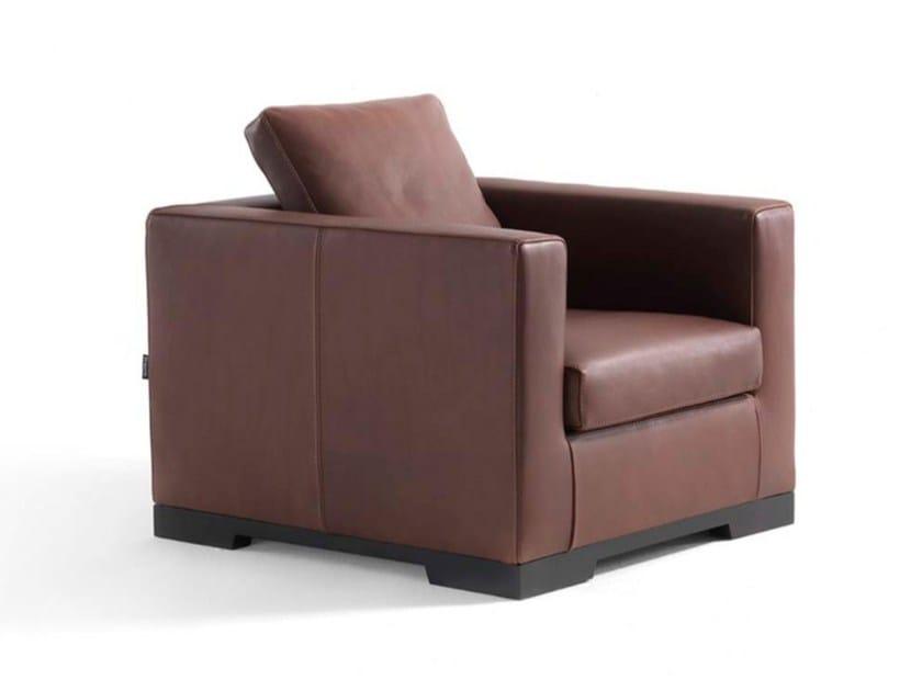 Leather armchair with armrests ORAZIO JUNIOR - FRIGERIO POLTRONE E DIVANI