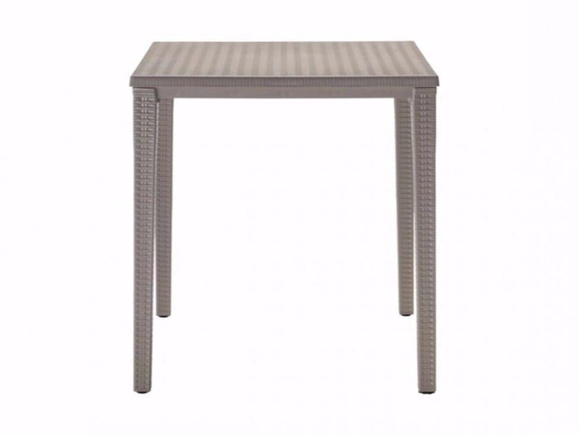 Stackable square plastic garden table ORAZIO | Square table - SCAB DESIGN