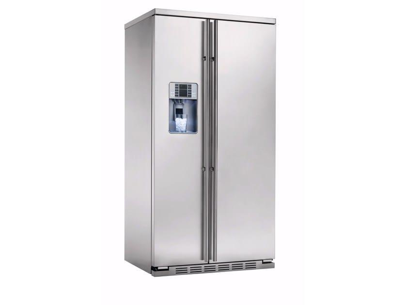 Frigorifero americano no frost in acciaio inox con dispenser ghiaccio classe A+ ORE 24 VGF SS TXC - mabe  Ge Partner Appliances