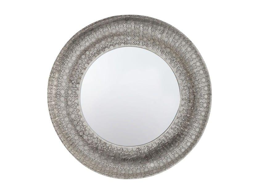 Specchio rotondo a parete con cornice ORIENT Ø 100 - KARE-DESIGN