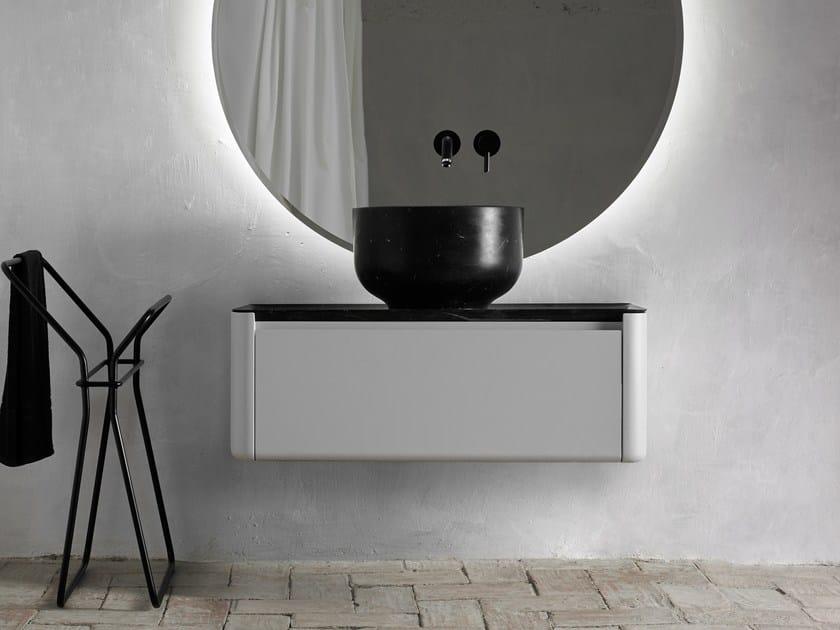 Mueble bajo lavabo lacado simple suspendido ORIGIN | Mueble bajo lavabo con cajones by INBANI