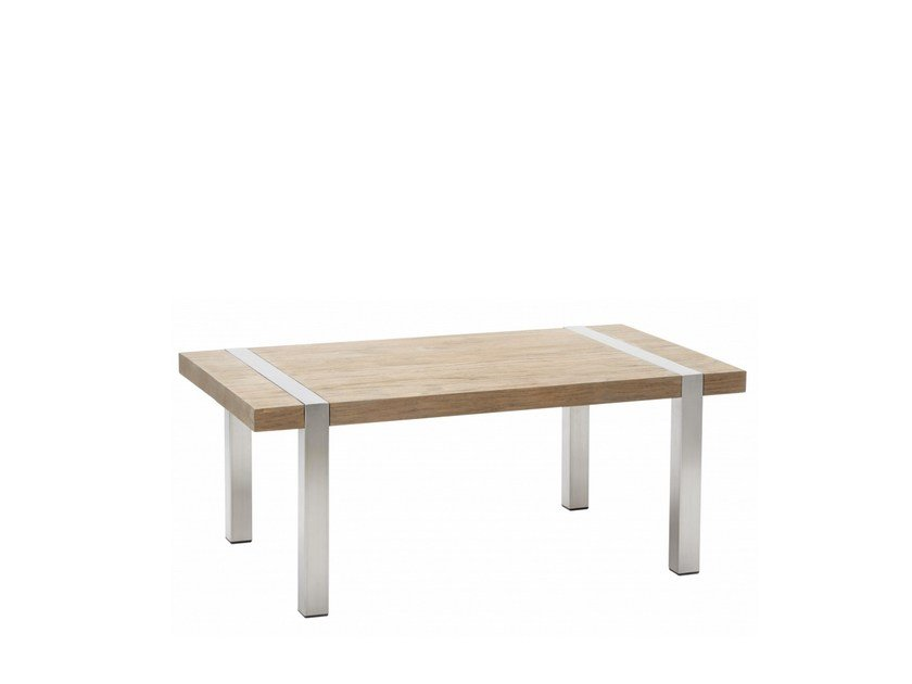 Rectangular teak garden side table ORIGIN | Rectangular coffee table - 7OCEANS DESIGNS