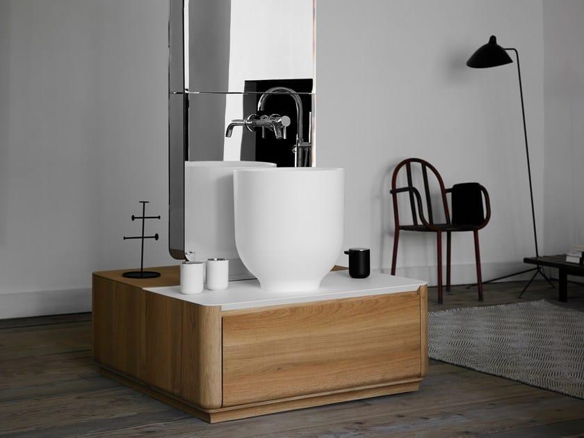 Mueble bajo lavabo simple de madera con cajones ORIGIN   Mueble bajo lavabo simple by INBANI