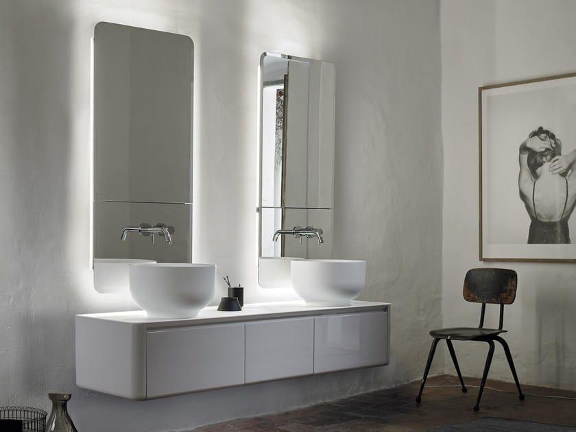 Mobile lavabo doppio sospeso con cassetti ORIGIN | Mobile lavabo sospeso - INBANI