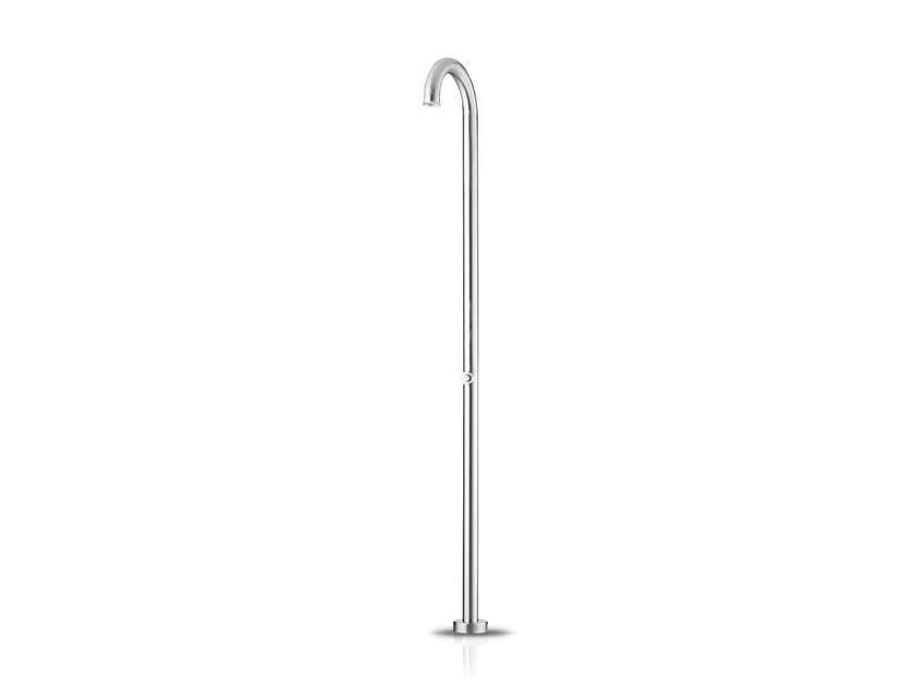 Floor standing stainless steel shower panel with self-closing tap ORIGINAL PUSH - JEE-O