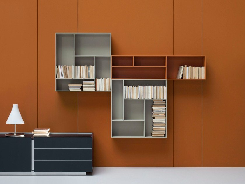 Lacquered office shelving OSTIN | Bookcase - BALMA