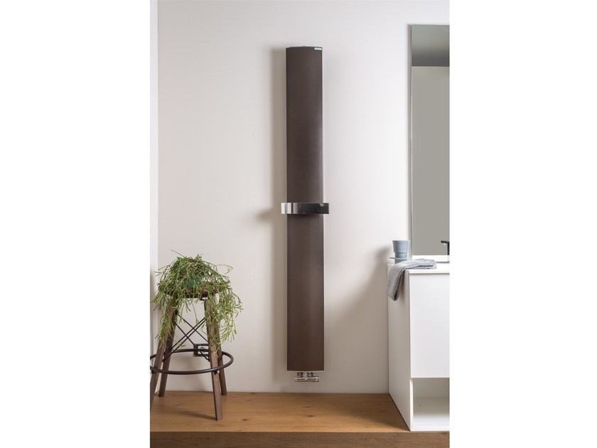 Wall-mounted aluminium decorative radiator OTHELLO MONO SLIM - RIDEA