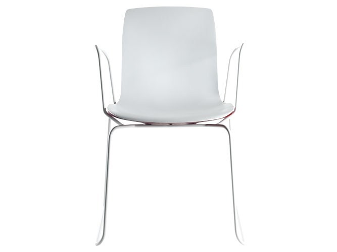 Sled base chair with armrests OTIS | Chair with armrests by Albaplus