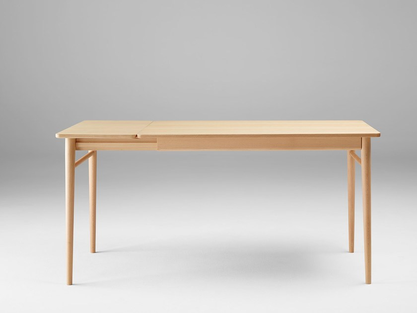 Extending rectangular wooden dining table OTO | Extending table - ONDARRETA