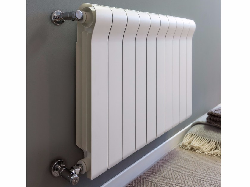 Wall-mounted die cast aluminium decorative radiator OTTIMO - Radiatori2000