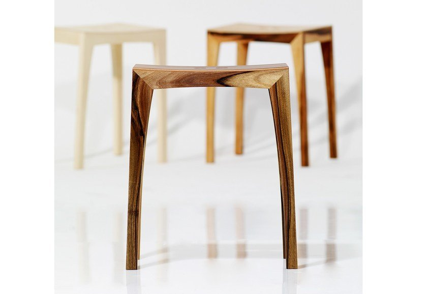 Contemporary style low wooden stool OTTO2 | Wooden stool - sixay furniture