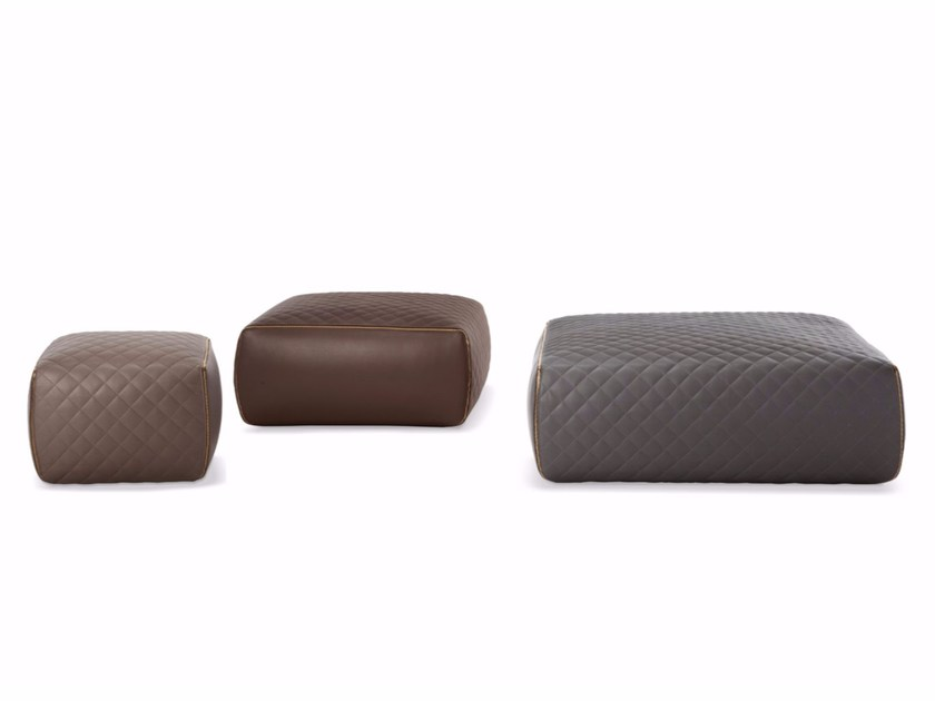Leather pouf OTTOMAN - ASHLEY - Minotti