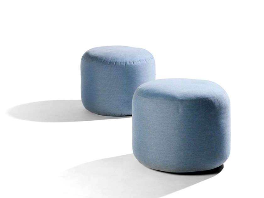 Upholstered fabric pouf OUDOOR POUF - TRIBÙ