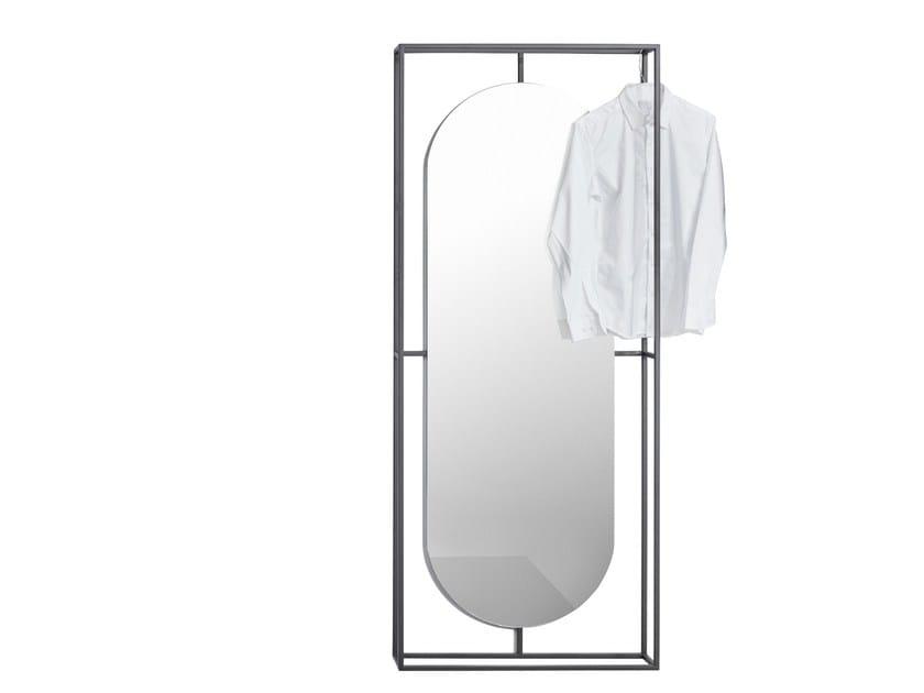 Steel mirror / coat rack OUTLINE - Kristina Dam Studio