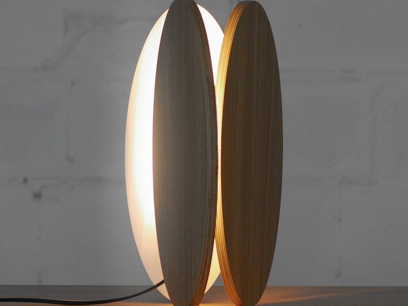 LED wood veneer table lamp OVA | Table lamp - ODESD2