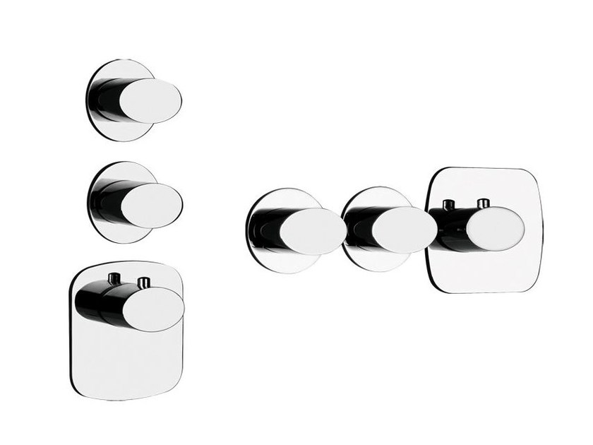 3 hole thermostatic shower mixer OVALE WELLNESS 43224 - Gessi