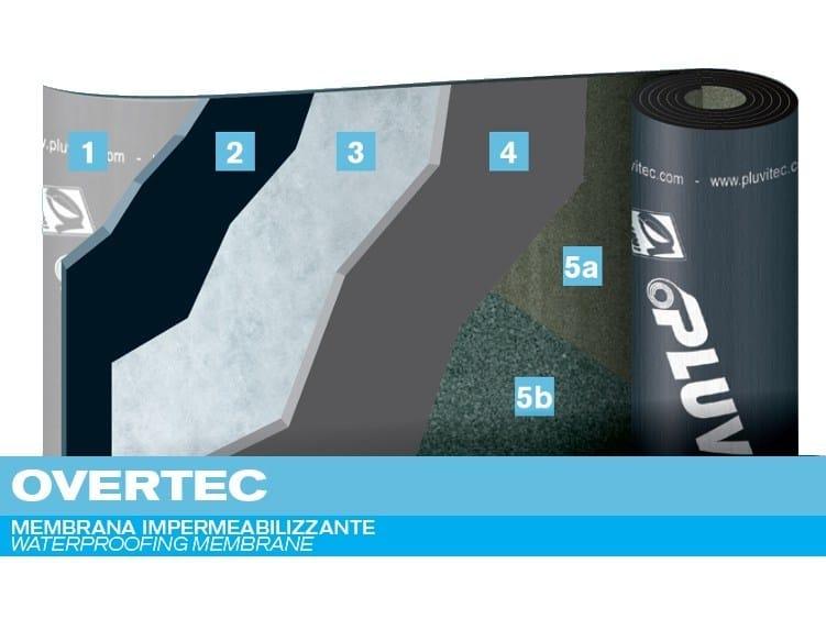 Prefabricated bituminous membrane OVERTEC - PLUVITEC